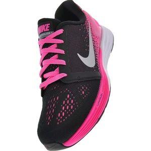 New Nike Lunarglide 7 GS SZ 7Y Black Metallic